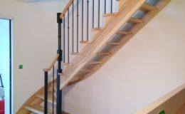 Escalier 1/4 Tournant en FRENE