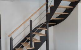 Escalier 1/4 Tournant laqué noir