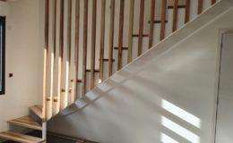 Escalier crémaillères 2 côtés