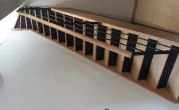 Escalier avec contremarches laquées noires