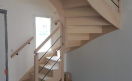 Escalier 2/4 Tournant avec contremarches