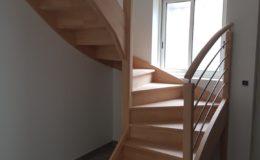 Escalier 2/4 Tournant en HETRE