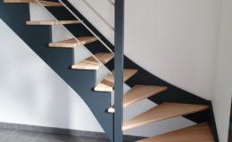 Escalier HETRE – Laqué gris 7016